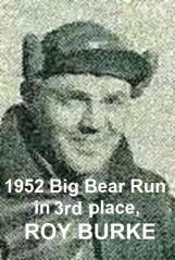 Burke, Roy 1952 Big Bear Run, 3rd place