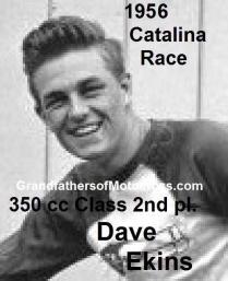 Ekins, Dave (AMA) 1956 Catalina 350 cc class, 2nd place