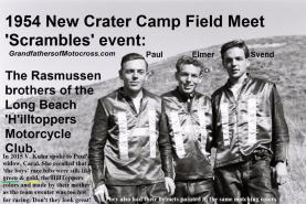 Rasmussen a1 brothers 1954 Rasmussen Paul, Elmer, Svend at new Crater Camp FIELD MEET at Scrambles