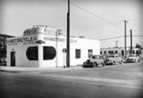 1947 4-20 a1aa 1946 LeBard & Underwood open L.A. mc dealership , later La Habra & BSA (2)
