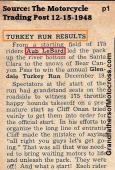 1948 12-19 a1 GLENDALE TURKEY RUN, winners LeBard, Kuhn, Ernie May