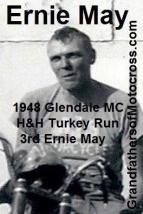 1948 12-19 a9 Ernie May 3rd in Glendale MC H&H TURKEY RUN