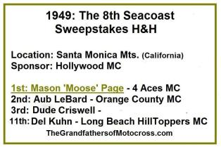 1949 6-0a 8th Seacoast Sweepstakes H&H