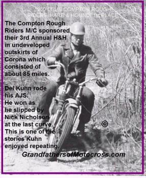 1950 3-19 b1 March Del 1st place TROPHY Rough Riders H&H