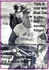 1950 3-19 c2 Del Kuhn wins RR MC H&H on AJS