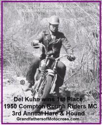 1950 3-19 c7 March Del 1st place TROPHY Rough Riders H&H