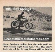 1950 4-2 a6 Box Springs TT, Norm Sothern on BSA