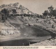 1950 4-2 a9 Box Springs TT, man down on track, fans gasp at danger