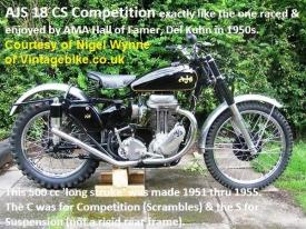 1950 5-7 a0 restored AJS 18cs, Courtesy of Nigel Wynne, Vintagebike.co.uk
