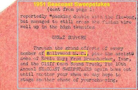1951 4-15 a8 10th Seacoast Sweepstakes, Ernie May, no photo, F. Braumbacker