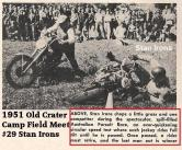 1951 6-0 cc4 Old Crater Camp STAN IRONS, Field Meet Australian Pursuit