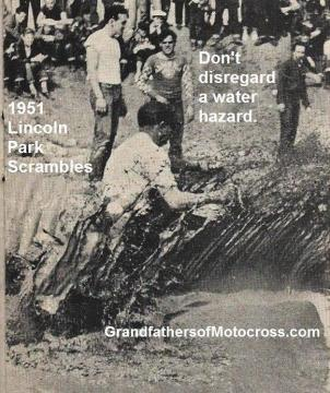 1951 L5 East L.A. Lincoln Park Scrambles muddy water hole ,