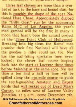 1952 12-7 a4a Rams will sponsor 1st Natl. H&H Billy Goat , not 3 pt. MC