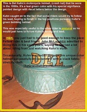 1952 12-7 a4h Natl. Billy Goat Run Del's helmet 'crash hat