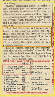 1952 12-7 c6b RESULTS of Billy Goat Nat'l H&H Championship