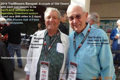 1953 2-1M 4th at 2014 TrailBlazers Banquet, Greenhorn winners Del Kuhn 1948-50-51 & Al Rogers 1960