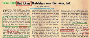 1953 4-0 s4 PALOS VERDES SCRAMBLES, article HD K model +B. Ekins won