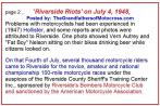 1953 5-0r2 but 1948 July 4 Riverside Riots, motorcycle Hollister-like reported