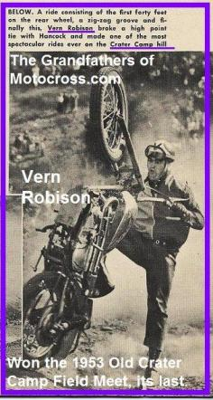 1953 6-0cy 2M Vern Robison, last Field Meet at Old Crater Camp