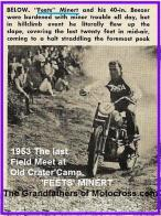 1953 6-0cy 2g FEETS MINERT, last Field Meet at Old Crater Camp