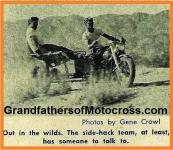 1953 8s Examples of Sidecar racers, NOT SO EASY