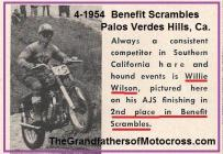1954 5-0b MCist NLA MC & Rams MC Scrambles benefit, Willie Wilson 2nd