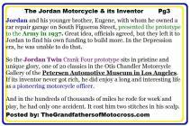 c15 The Jordan Motorcycle & LeGrand Jordan life