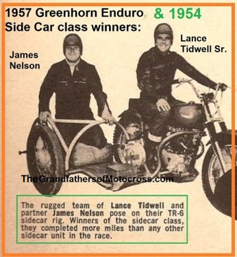 1954 a12 Greenhorn SIDECAR WINNERS Lance Tidwell & James Nelson