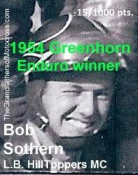 1954 a2 Bob Sothern wins 1954 Greenhorn -15 pts. on 1949 Triumph