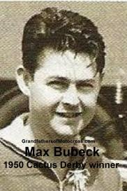 1992 4-25 a23 Riverside Bombers Theme, 1950 Cactus Derby winner MAX BUBECK