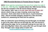 1992 4-25 a32 Kuhn tells of 1952 Big Bear re Bombers, Theme, 1952 CACTUS DERBY,