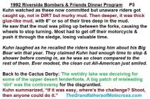 1992 4-25 a34 Kuhn tells of1952 Big Big win re Bombers Dinner, Theme, 1952 CACTUS DERBY