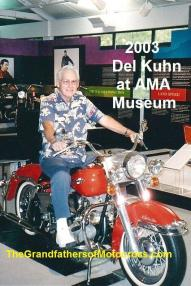 AMA 2003 10-5g3 Kuhn couldn't resist sitting on this AMA museum cycle