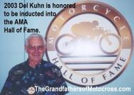 AMA 2003 10-5p1 Hall of Fame inductee Del Kuhn