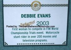AMA 2003 10-5q3 Hall of Fame Debbie's plaque