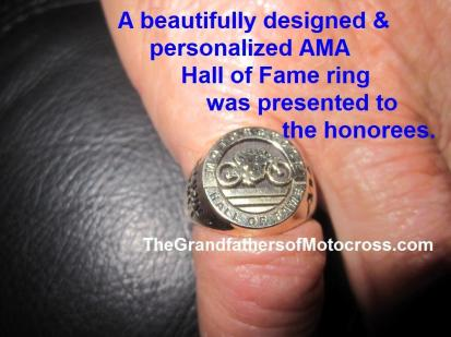 AMA 2012 11-15a Hall of Fame ring received VK 2010 12-25 & AMA 2012