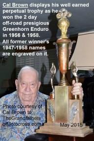 1956 a2c Greenhorn winner in 2015 Cal Brown 1956 & 1958 perpetual Trophy
