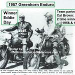 1957 6-1a6 Greenhorn winner Eddie Day & last yrs. winner CAL BROWN