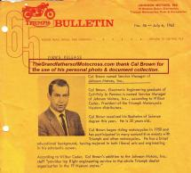 2015 5-0 pg 6b 1965 Cal Brown now Service Mgr. of Johnson Motors notice