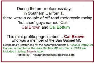 Cactus Derby 1955 15-0a1 There were a couple of Cals._.Cal Bottum, Cal Brown,