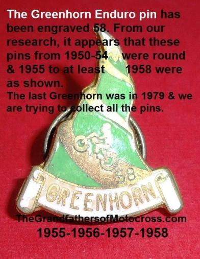 Greenhorn 1957 Greenhorn 6-0 a1 pin history & Eddie Day, Don Wehrman & Cal Brown
