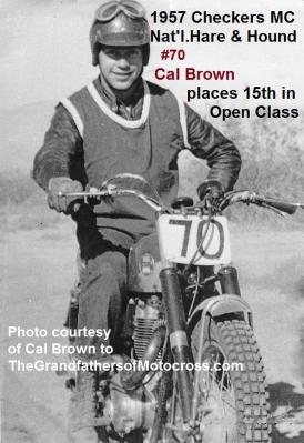Hare & Hound Checkers MC a1 1957, CAL BROWN at start