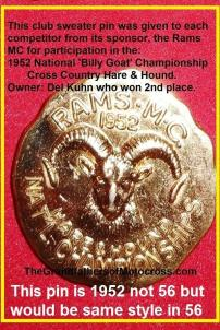 Hare & Hound by Rams MC 1956 but pin is 1952