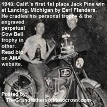 Jack Pine 1957 9-2 a5 not but in 1948 1st California racer Earl Flanders wins Michigan Jack Pine