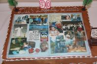 Dels 90th birthday cake