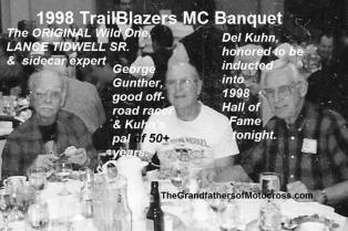 TrailBlazers 1998 Del Kuhn, George Gunther, Lance Tidwell sr
