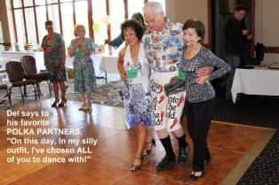 Donna, Del & Jan do a 10 step polka