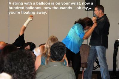 balloons on wrist