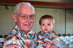 Logan says thank you for being the best grandpa ever. Del & Logan