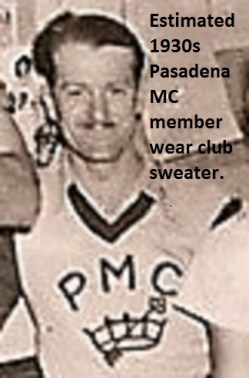 1930s a4 PMC member wears club sweater